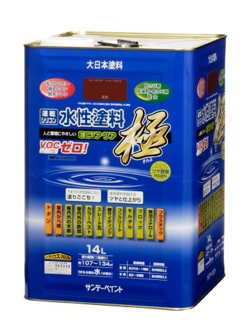 サンデーペイント 水性多目的塗料 つやあり 水性エコアクア 14L 常備色 【送料無料】の画像