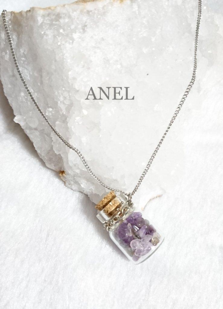 【天然石ネックレス】アメジストネックレスの画像