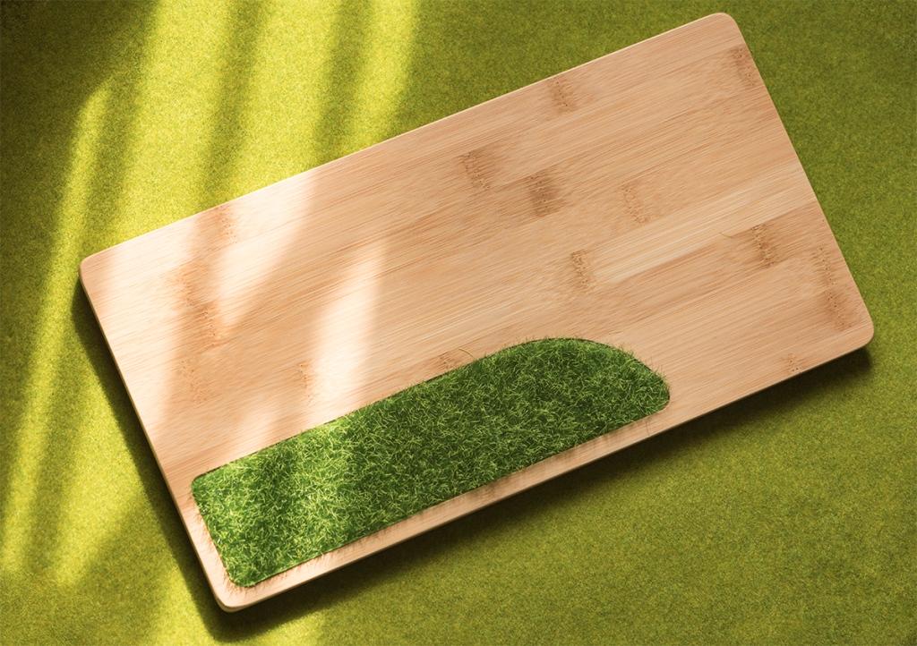 竹製ディスプレイプレートの画像
