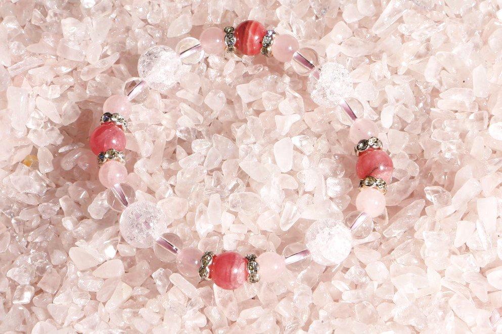 薔薇の恋華 〜 インカローズ・ローズクォーツ 〜 ¥6,000の画像