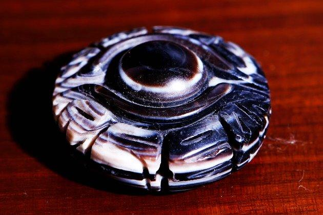 魔除け厄除けならおまかせ〜天眼石彫り 35mm 〜 ¥4,800の画像