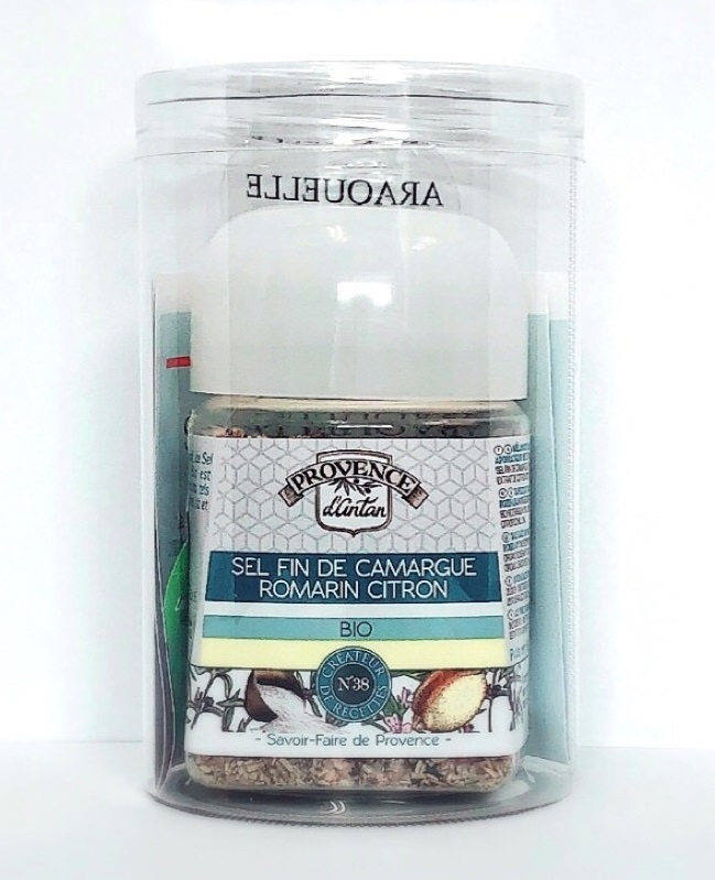 有機 カマルグ地方の塩とローズマリーとレモン風味(プラスチックボトル入)の画像