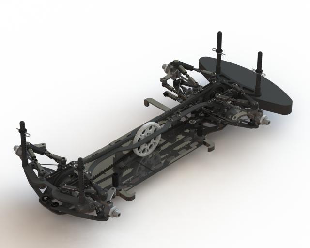 【台数限定商品】A800Xミッドモーターコンバージョン アルミシャーシ仕様画像