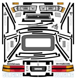 Z10 SOARER用ステッカー画像