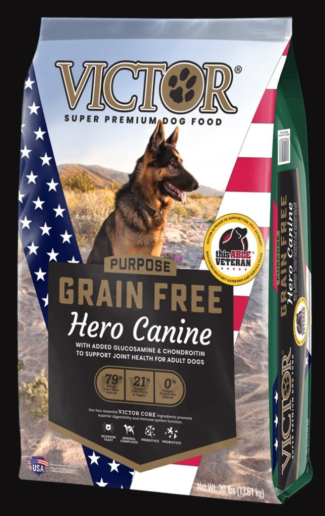 【数量限定・要予約】015(ビクター)ヒーロー<グレインフリー>活動犬 & 大型成犬用-DOG【13.6 ㎏】 🐂🐟🐖+の画像