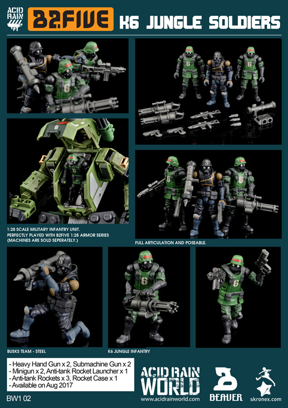 【送料無料】AcidRain K6 Jungle soldier set Wave1の画像
