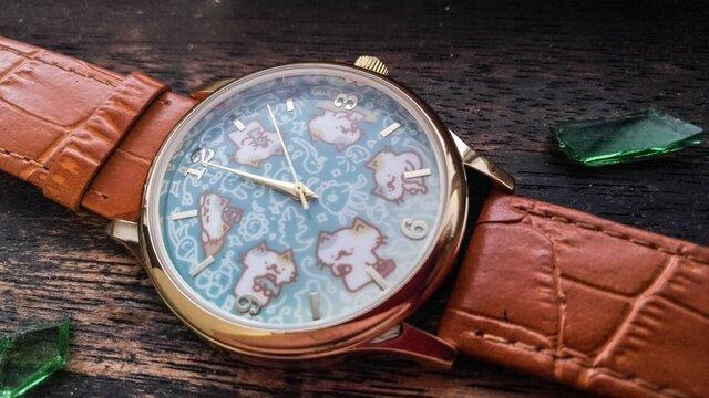 【暗黒電波美術】猫がいっぱい!腕時計!画像