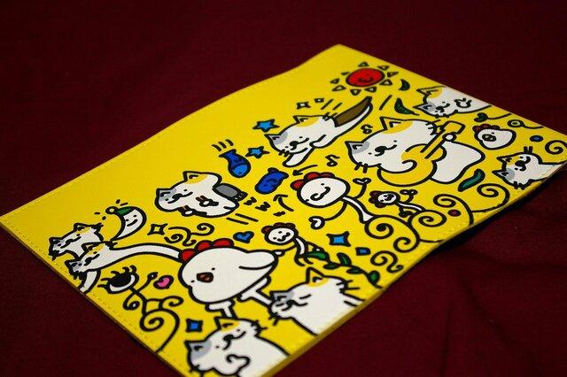 【暗黒電波美術】猫とか鳥とかブックカバー!(中身を買えたら手帳やノートカバーにも)画像