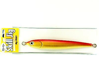 スキルジグ 128g 矢羽 レッドゴールド グローベリー画像