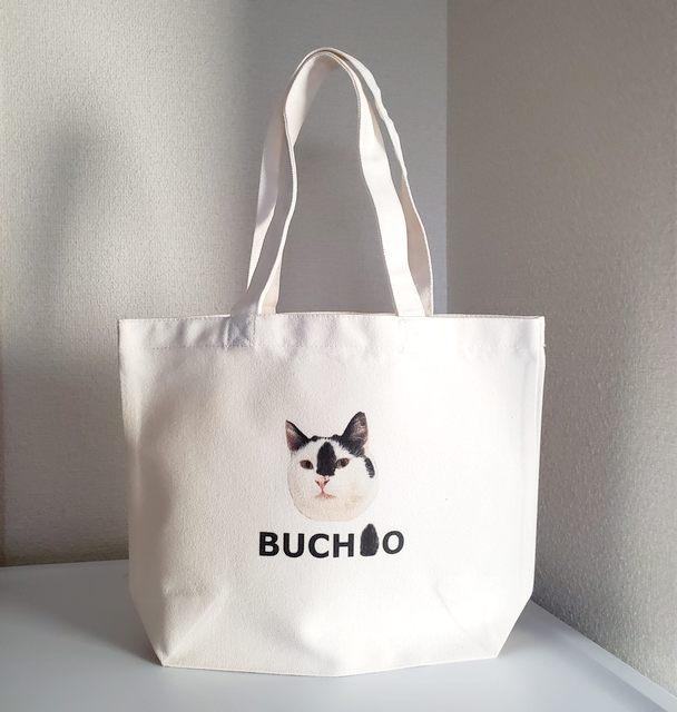 BUCHIO PROJECT ♡ぶち男君ねこオリジナルトートバック 画像