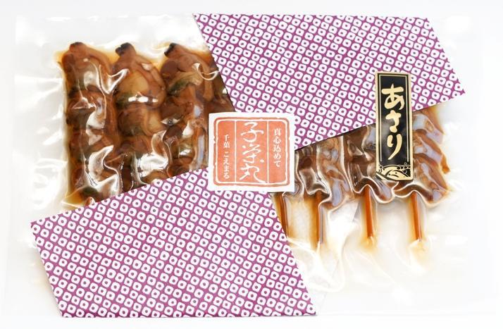 創業以来変わらぬ味と製法で仕上げた名産品【焼あさり8串入り】の画像