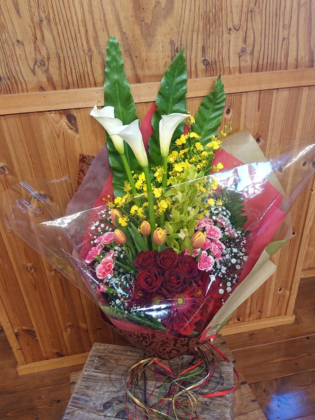 お祝い花束[ロングタイプ]画像
