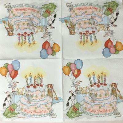 動物たちの誕生日パーティの画像