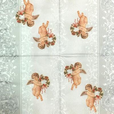 リースを持つ天使の画像
