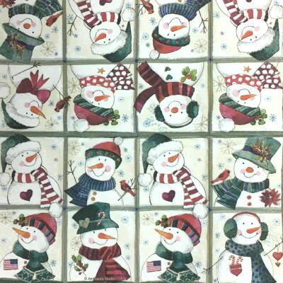 Happy Snowman(21cmミニナプキン)の画像