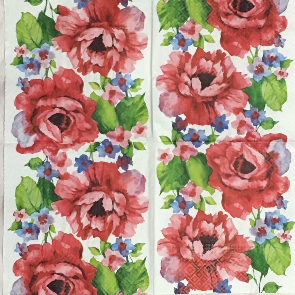 水彩画の様な鮮やかなバラの画像