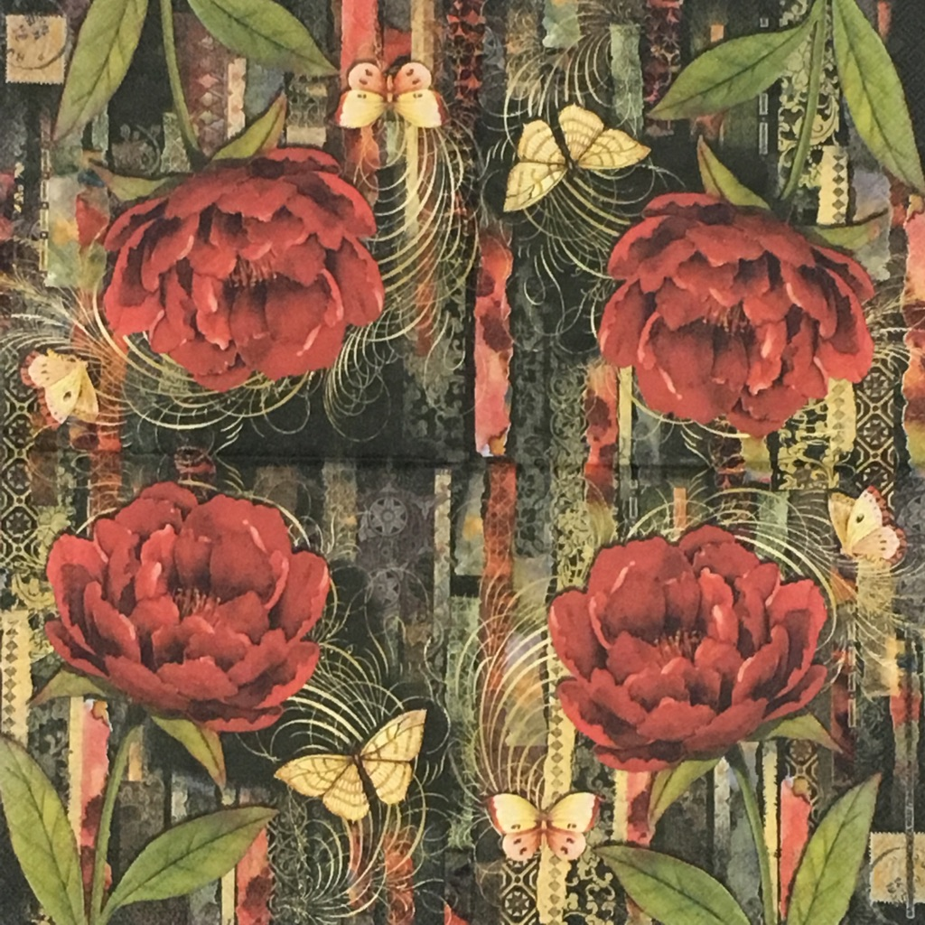 真っ赤な花の画像