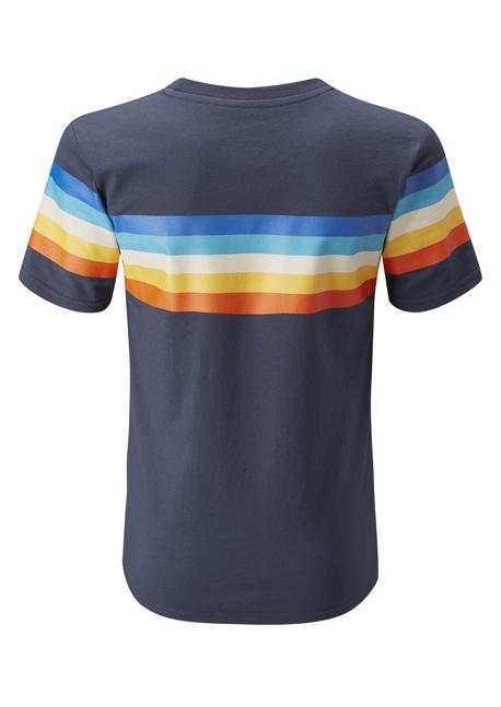 MOON 2019 ハーフムーンレトロストライプTシャツの画像