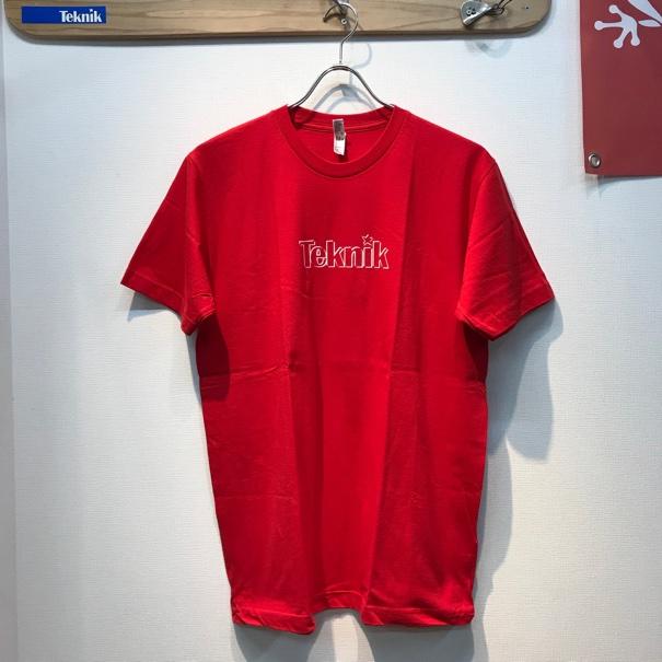 TEKNIK LOGO Tシャツ レッドの画像