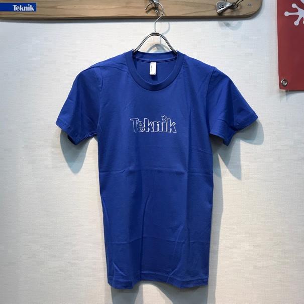 TEKNIK LOGO Tシャツ ブルーの画像