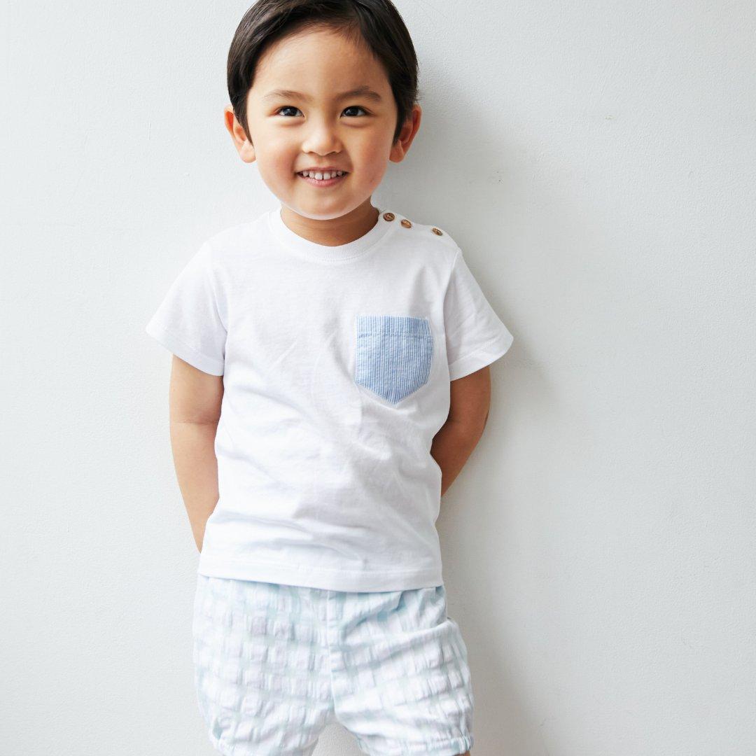 FinaEjerique★ブルーストライプポケットTシャツ(12m~6A)画像