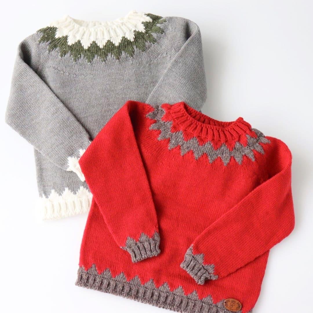 FinaEjerique★ジグザグウールセーター/全2色(12m~8A)画像