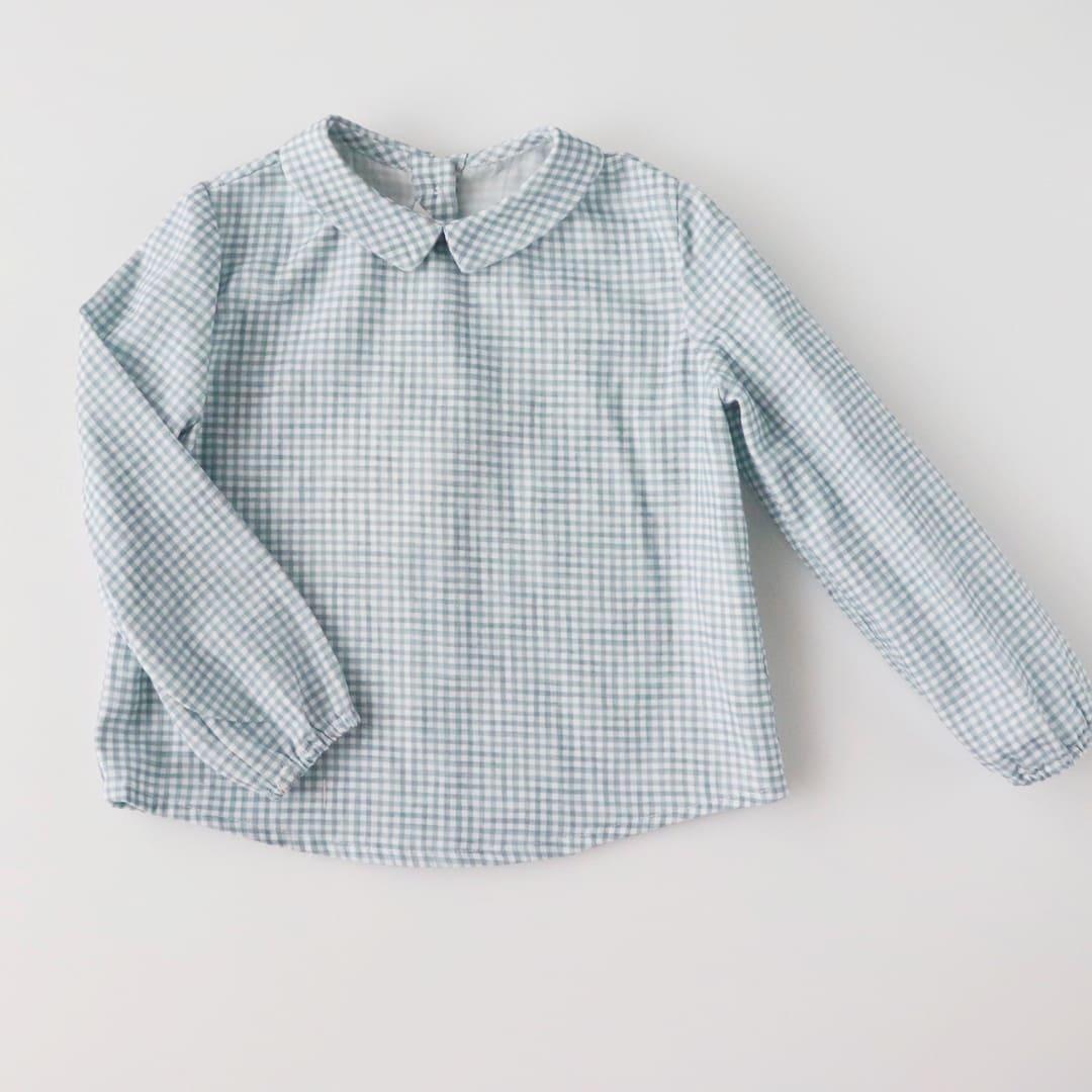 FinaEjerique★ビッキーブルーチェックシャツ(12m~4A)画像