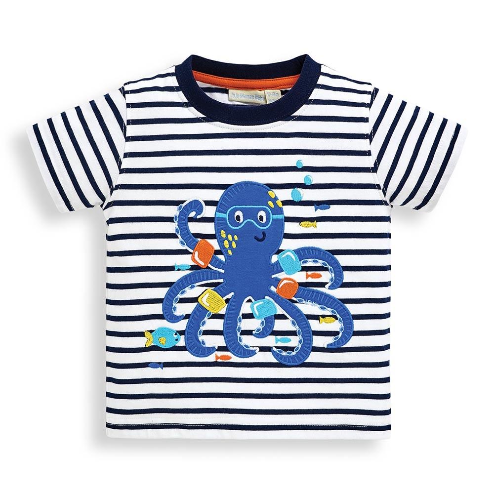 JoJo Maman Bebe★オクトパスアップリケTシャツの画像