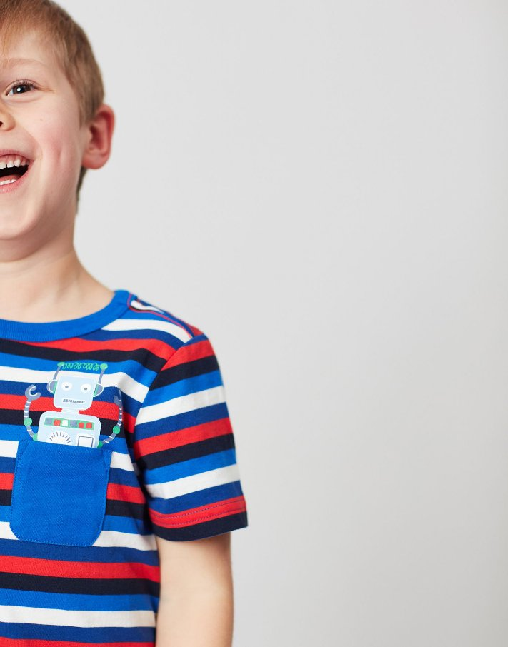 【SALE】Joules★ポケットロボットTシャツ画像