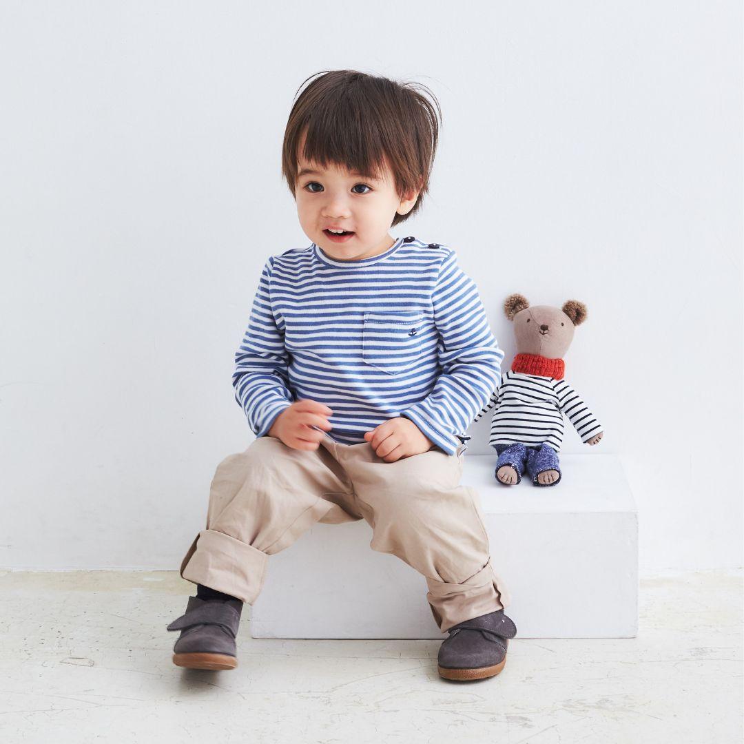 ▼30%-Albetta★マリンストライプ長袖Tシャツ画像