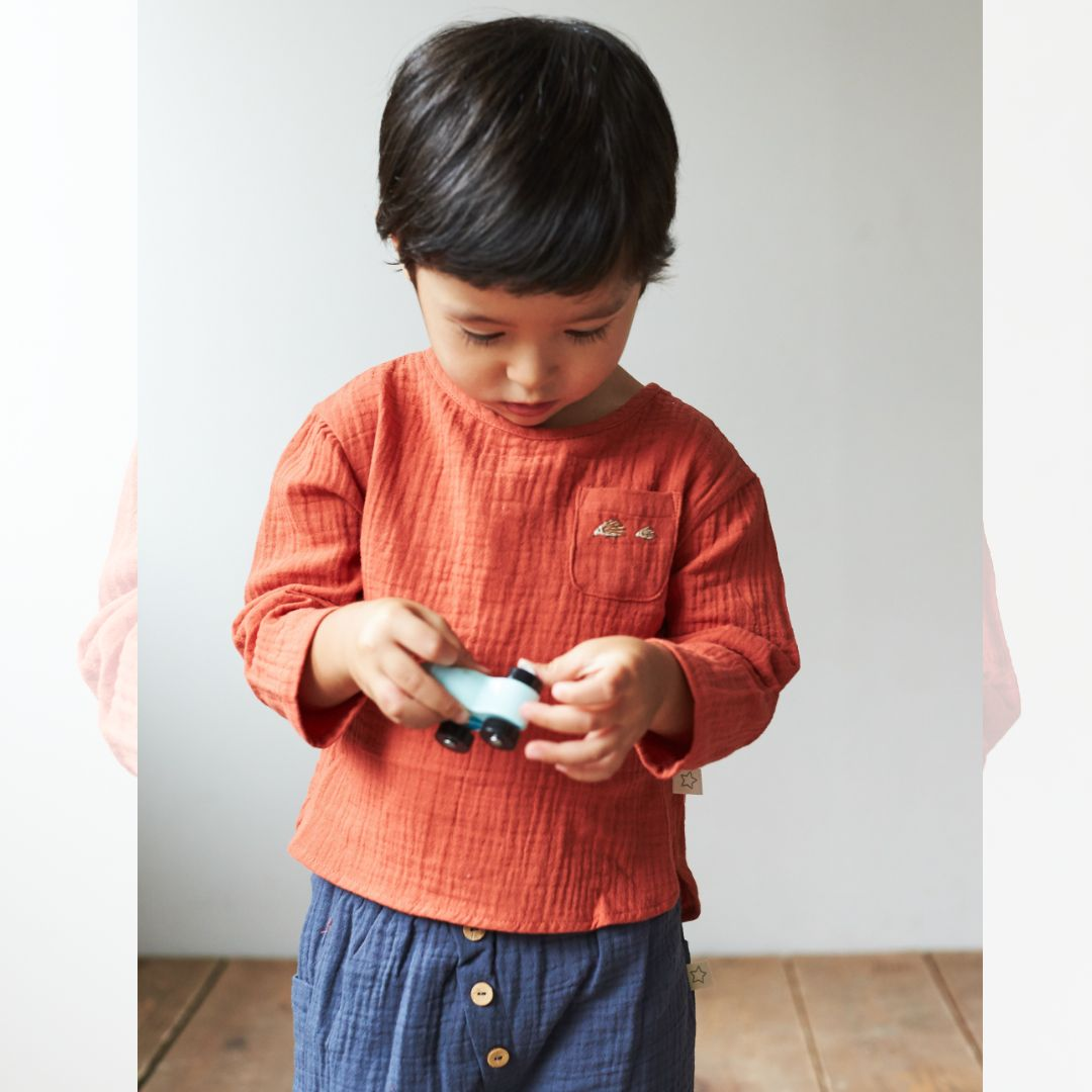 ▼30%-Albetta★オーガニックモスリントップス(オレンジ)画像