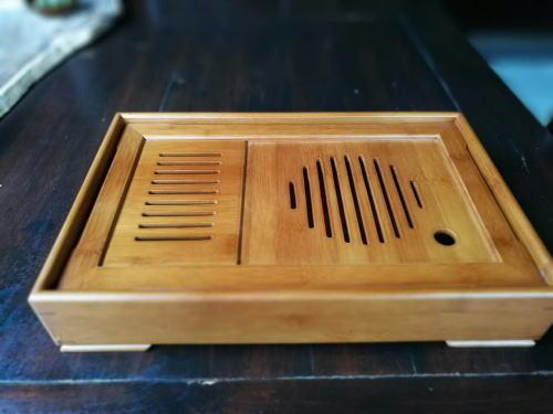 竹製茶台の画像