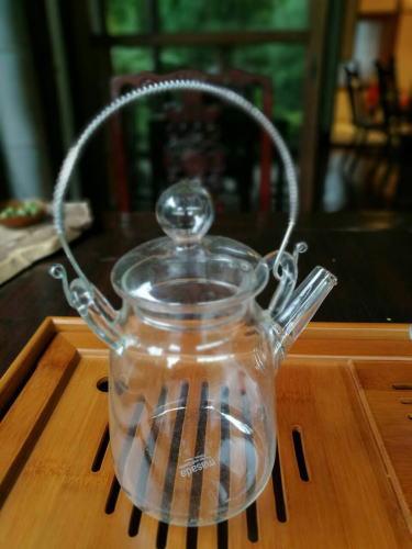 筒型耐熱ガラスポット画像