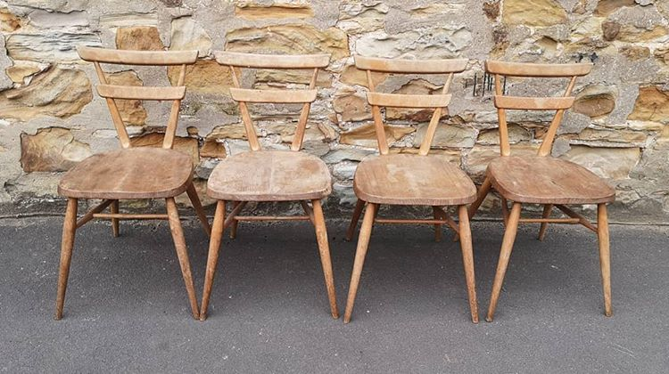 4 Ercol chairs画像