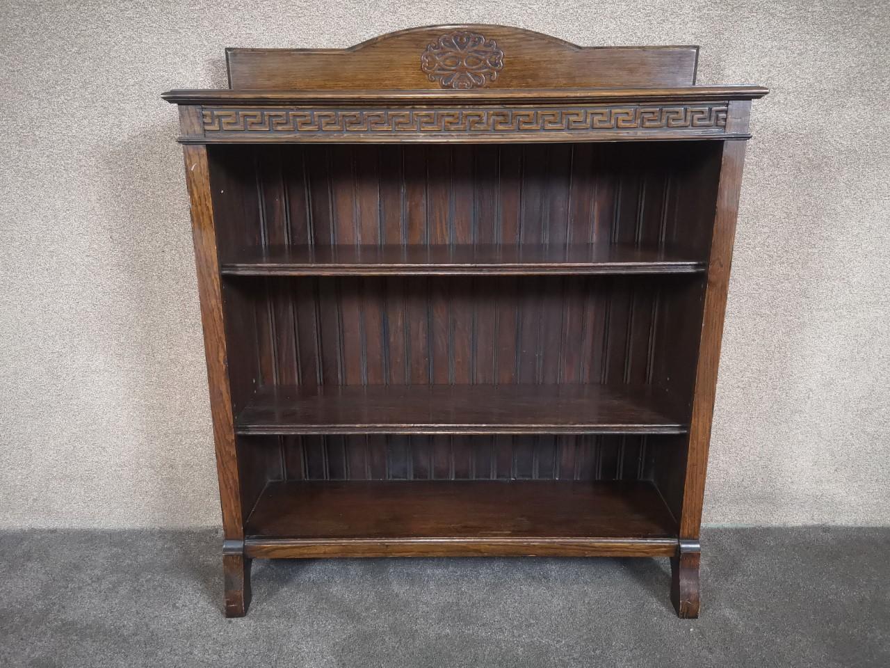 Oak open bookcase画像