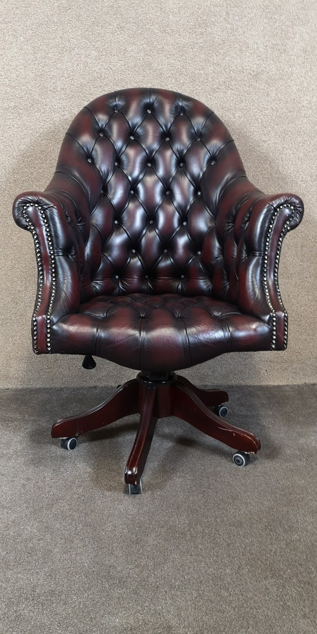 Chesterfield office chair画像