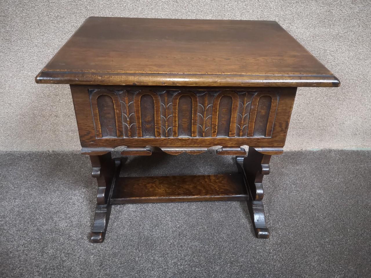 Oak work table画像