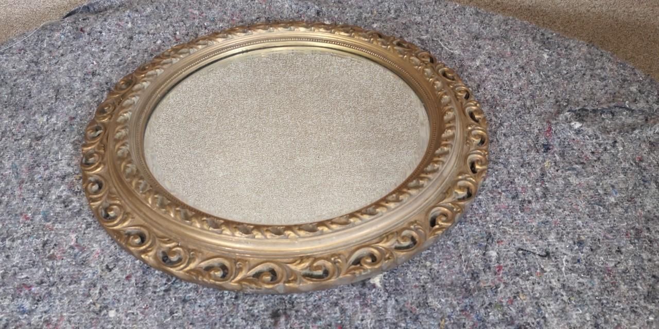 Gilt circular mirror画像