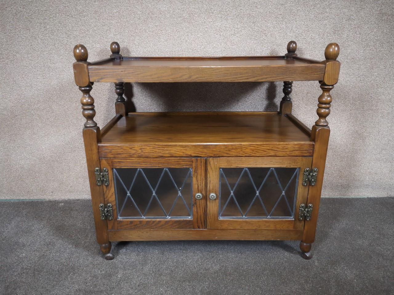 Oak Old Charm wine / tea trolley画像