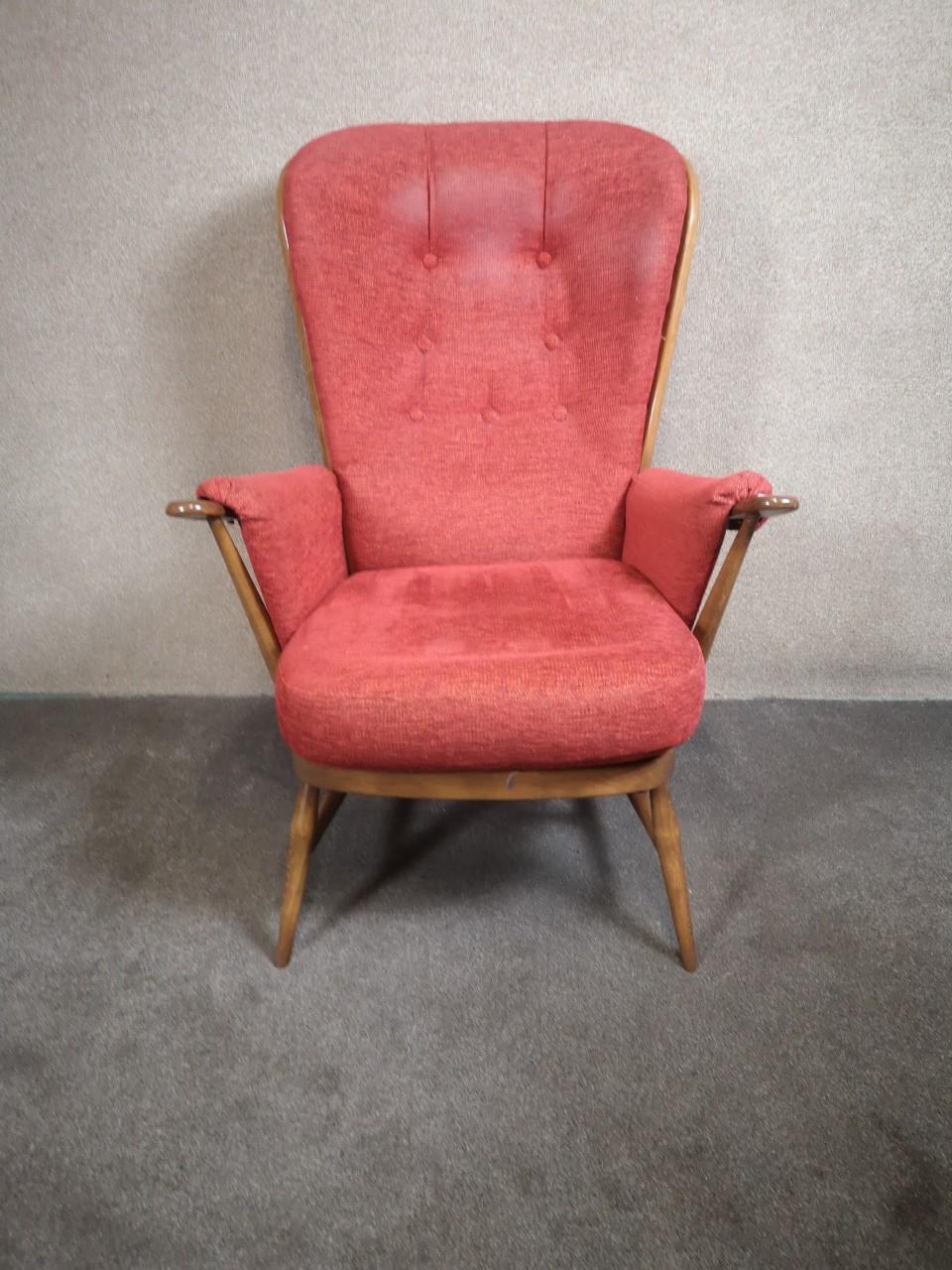 Ercol high back chair画像