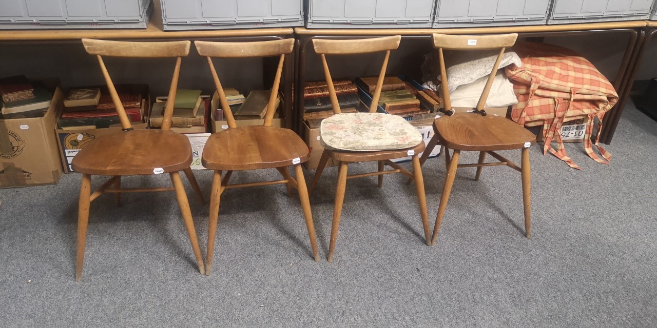 Four Ercol chairs画像