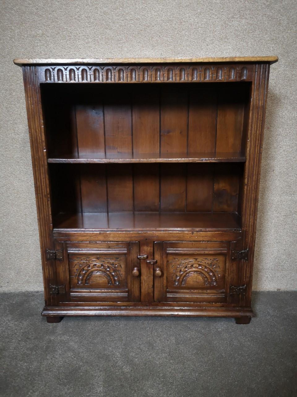 Oak Titchmarsh Goodwin bookcase画像