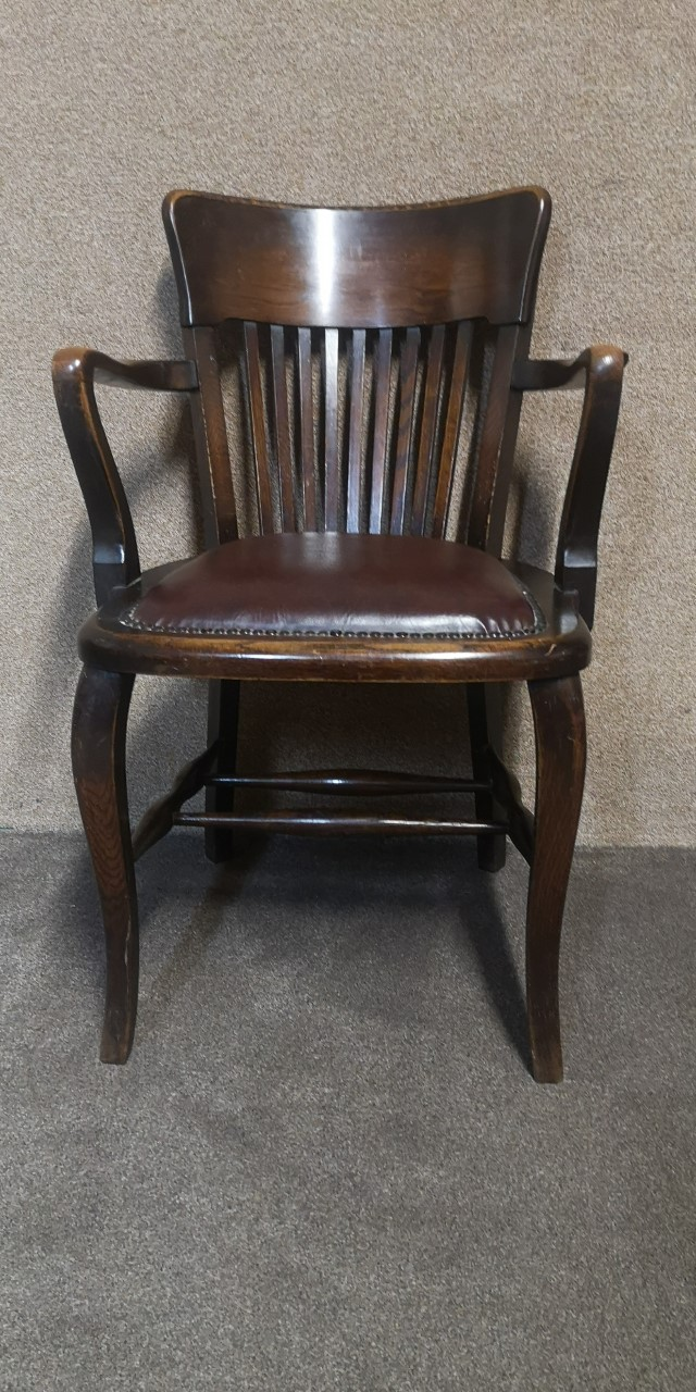 Oak office chair画像