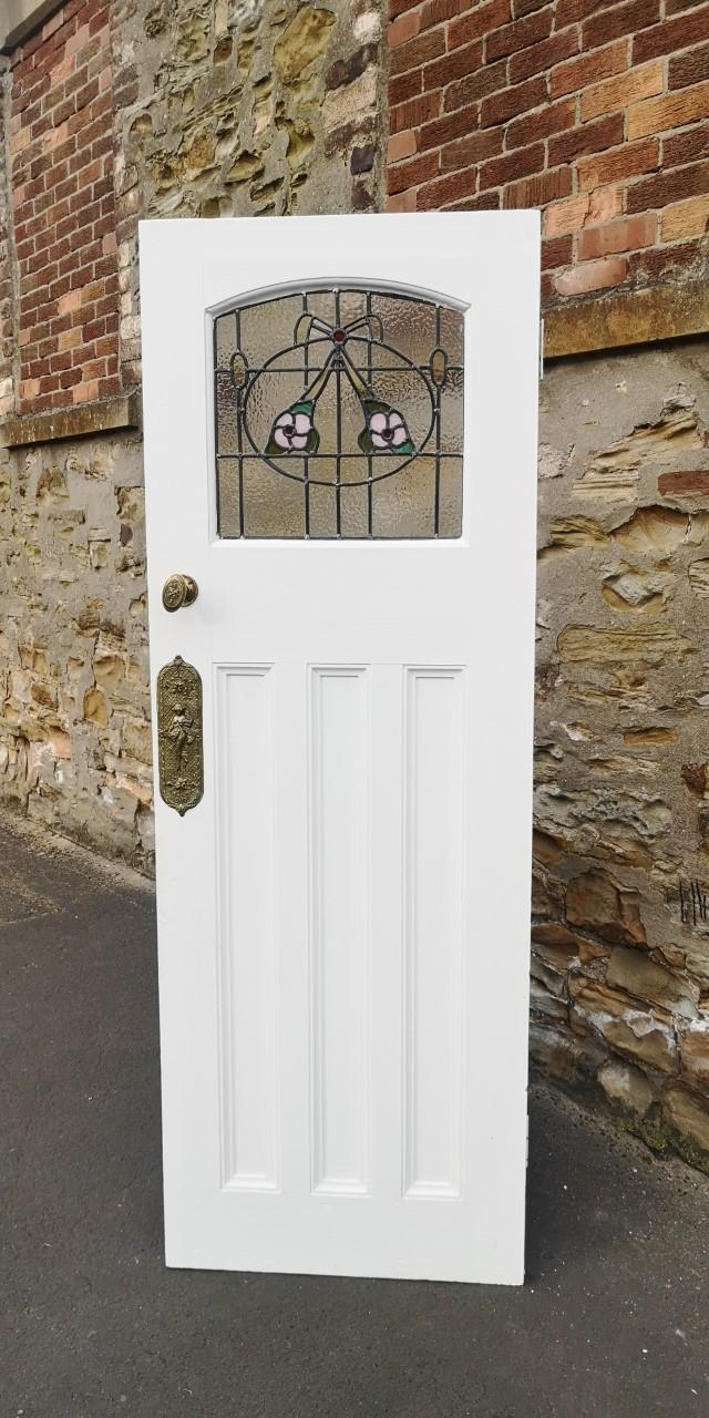 Stained glass door W70画像