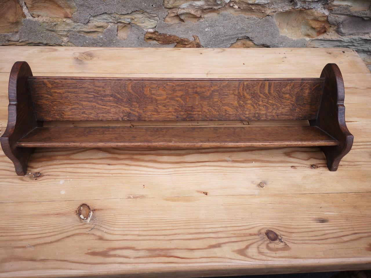 Oak book trough画像