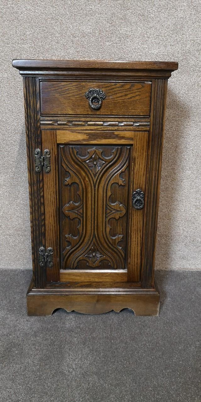 Oak side cabinet / bedside画像