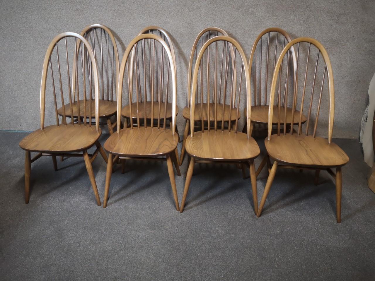 8 Ercol quaker chairs (4 chairs ×2)画像