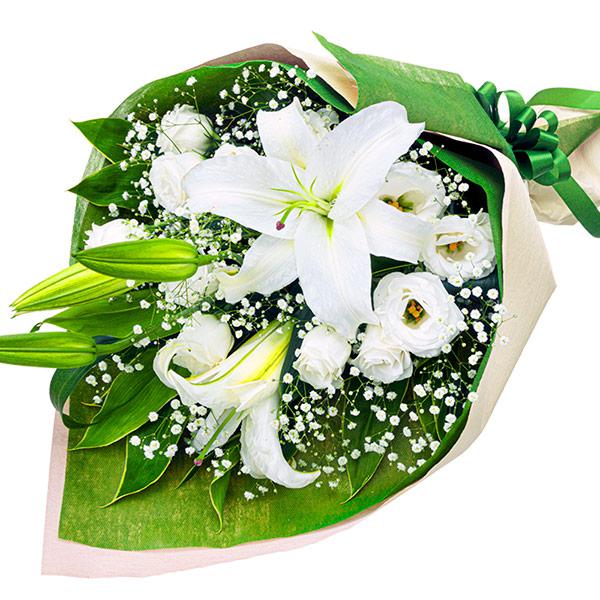 洋風 白ユリのお供え花束画像