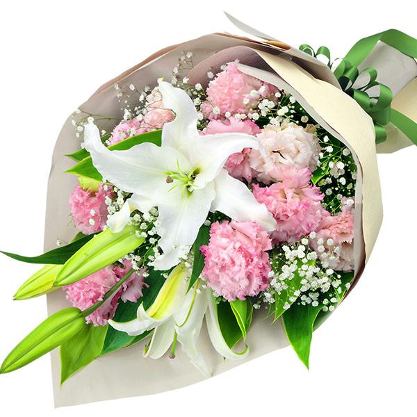 洋風 白ユリとピンクのお供え花束 512079画像