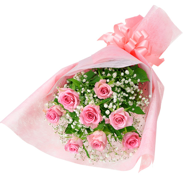ピンクバラの花束 512195画像